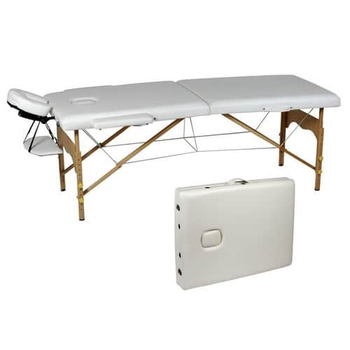 Table de massage pliante blanc cr me pas cher - Table epilation pliante pas cher ...