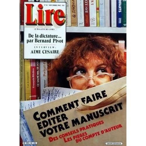 Lire N 87 Du 01 11 1982 De La Dictature Par B Pivot Aime Cesaire Comment Faire Editer Votre Manuscrit M Senghor Le Fatome Rufus Jones F Villon