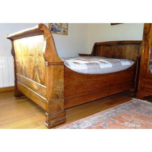lit authentique rouleaux epoque louis philippe achat et vente. Black Bedroom Furniture Sets. Home Design Ideas