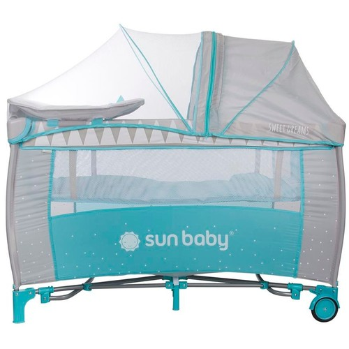 lit de voyage parapluie b b mousquitaire avec plan langer turquoise. Black Bedroom Furniture Sets. Home Design Ideas