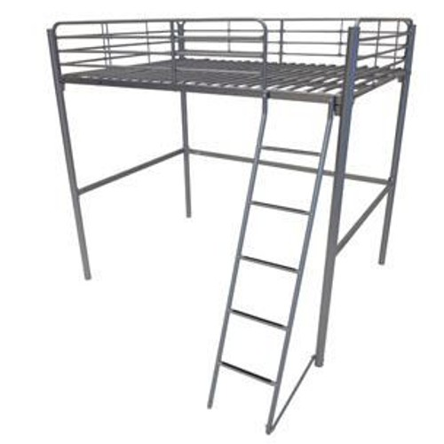 lit mezzanine 140x190 cm silver line 4 coloris gris pas cher. Black Bedroom Furniture Sets. Home Design Ideas