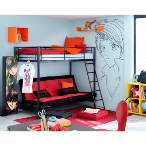 lit mezzanine avec canap fly pas cher achat vente. Black Bedroom Furniture Sets. Home Design Ideas