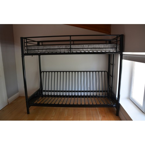 lit mezzanine avec clic clac achat et vente. Black Bedroom Furniture Sets. Home Design Ideas