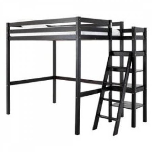 lit mezzanine bois wenge pas cher achat vente priceminister. Black Bedroom Furniture Sets. Home Design Ideas