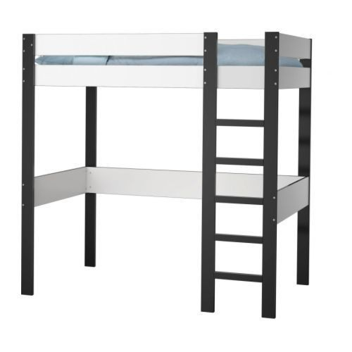 lit mezzanine ikea bois noir pas cher achat vente priceminister. Black Bedroom Furniture Sets. Home Design Ideas
