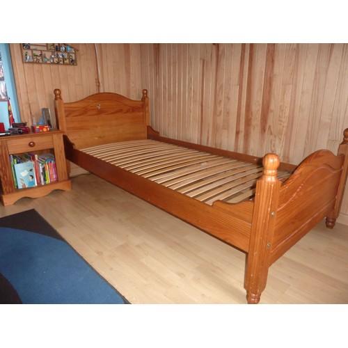 lit pin massif personne achat et vente priceminister. Black Bedroom Furniture Sets. Home Design Ideas