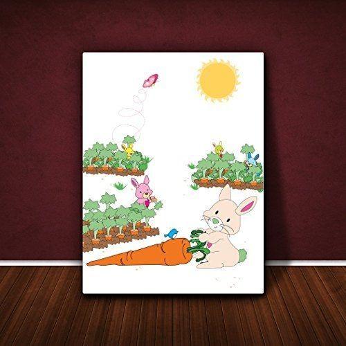 Cadre 16 X 24 little helper toile sur cadre feel good art monsieur lapin dans son