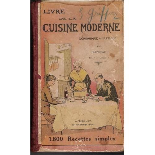 Livre de la cuisine moderne economique pratique 1 800 - Livre de cuisine traditionnelle francaise ...
