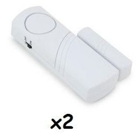 lot 2 alarmes porte garage fenetre camping car etc pas cher. Black Bedroom Furniture Sets. Home Design Ideas
