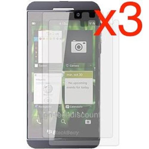 Lot 3x films de protection protecteur cran pour for Photo ecran blackberry z10