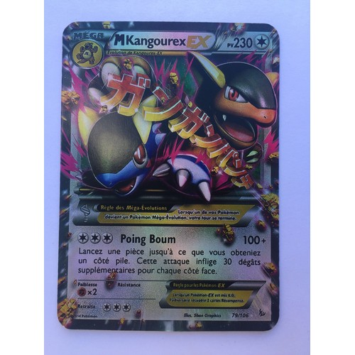 Lot 6 cartes mega pokemon ex kangourex gardevoir lucario - Pokemon mega kangourex ...