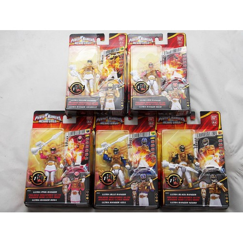 6 figurines power rangers