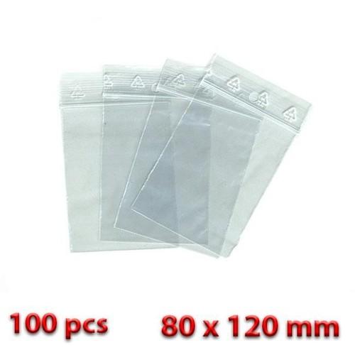 lot de 100 sachet zip pochette plastique transparent 80 x 120. Black Bedroom Furniture Sets. Home Design Ideas