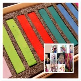 lot de 12 craies pour cheveux hair chalk coloration non permanente rapide pratique tendance original mode - Coloration Non Permanente