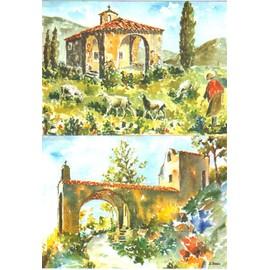 Lot De 2 Cartes Postales De Lorgues (Var-83), Magnifiques Aquarelles De J.Suain��