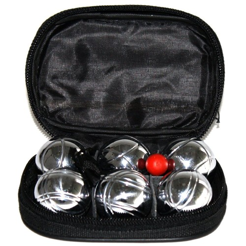 lot de 2 coffret de 6 mini boules de petanque 54 gr avec mettre et cochonnet. Black Bedroom Furniture Sets. Home Design Ideas
