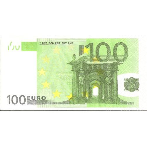 lot de 2 serviettes d co papier mdm billet de 100 euros. Black Bedroom Furniture Sets. Home Design Ideas