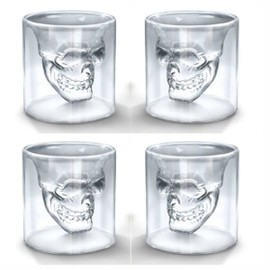 lot de 4 verres tete de mort shooter cocktail mojito. Black Bedroom Furniture Sets. Home Design Ideas