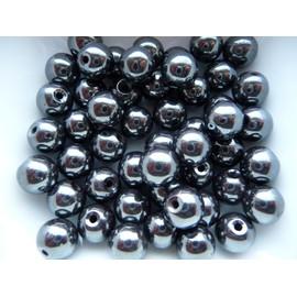 Lot De 50 Hematites 10 Mm Pour Bracelet Shamballa