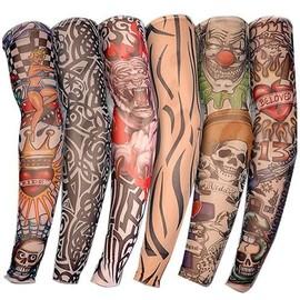 Lot De 6 Tatouage Ephemere Temporaire Bras Ou Jambes 47 Cm Nylon