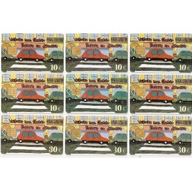 Lot De 9 Paris Cartes Parking Stationnement Collection