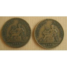 Lot de deux pi ces de monnaie france bons pour 2 francs for Chambre de commerce de france bon pour 2 francs 1923