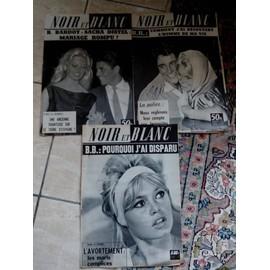 Lot De Magasine Noir Et Blanc Brigitte Bardot