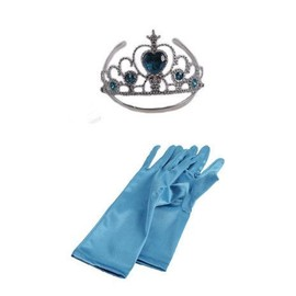 lot ensemble pack dguisement gants couronne diadme tiare accesoires princesse reine des neiges elsa fe costume enfants cosplay fte anniversaire carnaval - Gants La Reine Des Neiges