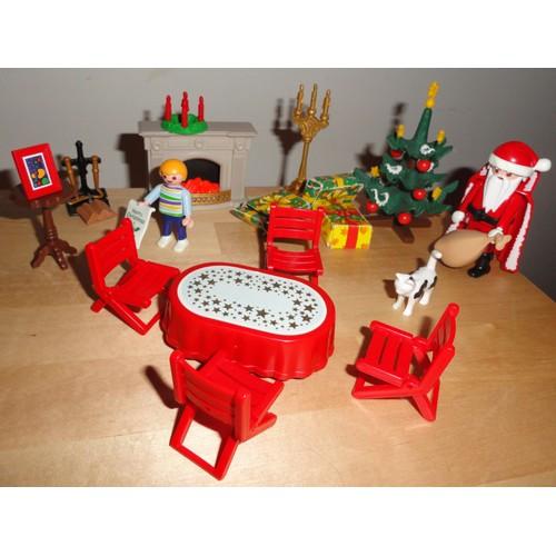 lot playmobil d cor de no l 1 sapin 1 p re no l de. Black Bedroom Furniture Sets. Home Design Ideas