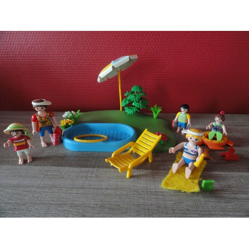 Lot playmobil plage et piscine achat vente de jouet for Piscine de playmobil