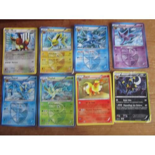 Lots de 8 cartes evoli dont 5 team plasma neuf et d 39 occasion - Pokemon famille d evoli ...