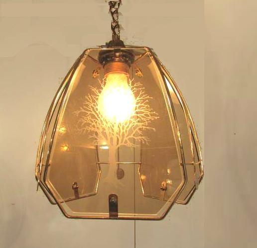 luminaire lustre suspension plafonnier verre serigraphie et metal dor applique 1 lumi re. Black Bedroom Furniture Sets. Home Design Ideas