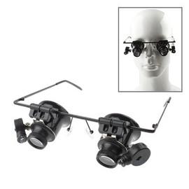 insten lunettes loupe magnifier lumineux led agrandissement 20x pour travaux minutieux timbre. Black Bedroom Furniture Sets. Home Design Ideas