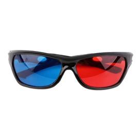 2049d287c975a Lunettes 3D Bleues rouges de cadre noir pour le jeu de film d Anaglyphe  dimensionnel DVD ...