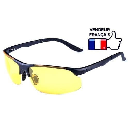 lunettes sport anti blouissement pour conduite de nuit bonne vision nocturne et neige. Black Bedroom Furniture Sets. Home Design Ideas