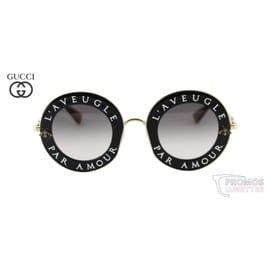 Lunettes De Soleil Gucci L aveugle Par Amour Gg0113s-001 - Rakuten 57ebb6f9dafa