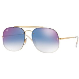 3301a88eacc Lunettes De Soleil Ray-Ban Blaze The General Rb 3583n Gold Blue Shaded  Unisexe