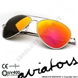 lunettes de soleil style aviateur verres effet miroir essence monture argent mixte pour. Black Bedroom Furniture Sets. Home Design Ideas