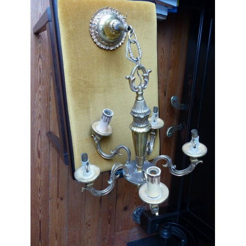 lustre m tallique 5 branches ressemble au bronze achat et vente. Black Bedroom Furniture Sets. Home Design Ideas