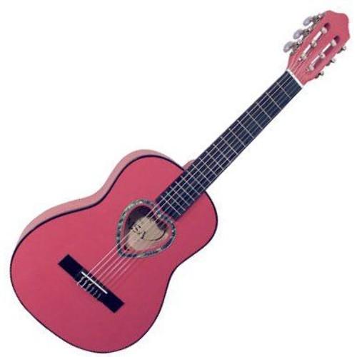 guitare classique 1 4 rose pour enfant rosace en coeur. Black Bedroom Furniture Sets. Home Design Ideas