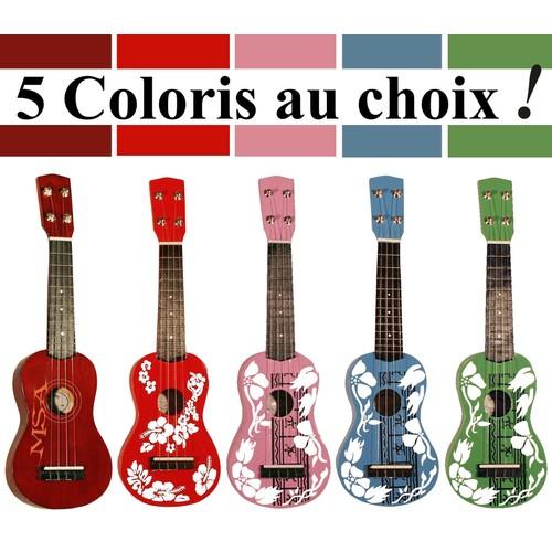 m u0026 39 sa uk30 ukulele soprano uni ou  u00c0 motifs 5 coloris au choix