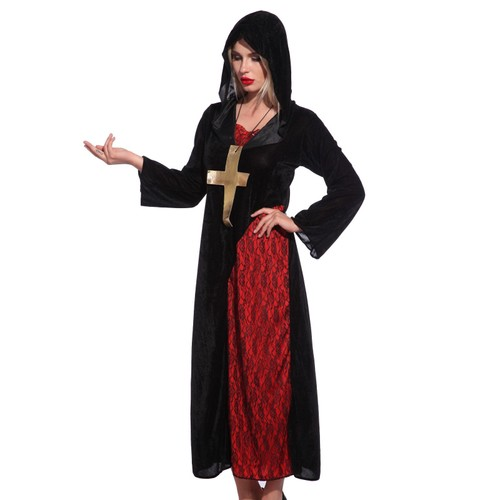 maboobie taille unique robe soeur femme fille moine catho gothique halloween soiree d guisement. Black Bedroom Furniture Sets. Home Design Ideas