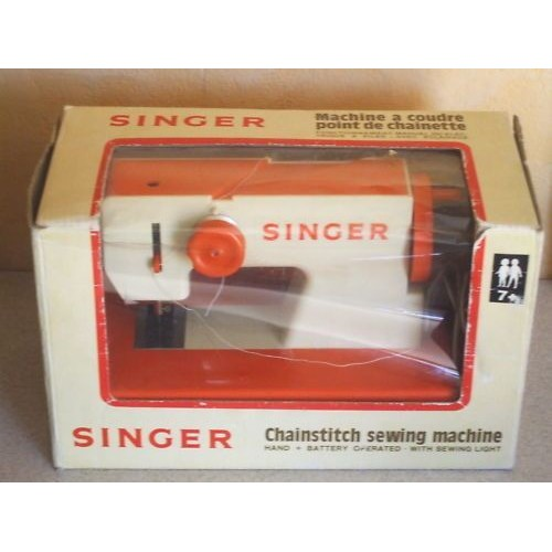 machine coudre singer vintage 1970 39 orange neuf et d