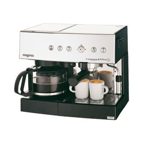 magimix l 39 expresso 11407 machine caf avec machine filtre. Black Bedroom Furniture Sets. Home Design Ideas