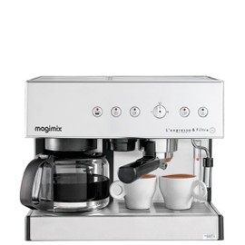 magimix l 39 expresso filtre automatic machine caf avec machine filtre et buse vapeur. Black Bedroom Furniture Sets. Home Design Ideas