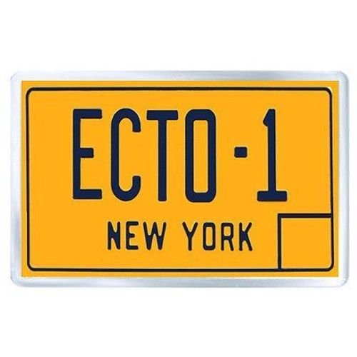magnet aimant de frigo ghostbusters ecto 1 plaque matricule. Black Bedroom Furniture Sets. Home Design Ideas
