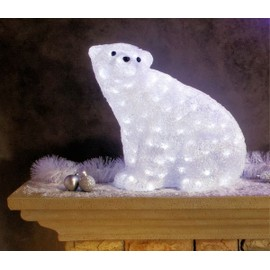 Magnifique illumination de no l xl ours polaire - Video illumination de noel exterieur ...