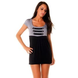 Robe bustier avec boutons