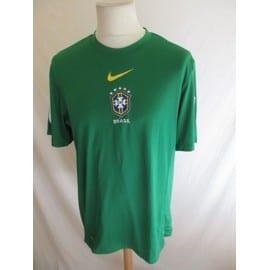 b8fca4ed29 Maillot De Football Équipe Du Brésil Nike Vert Taille L À - 50%