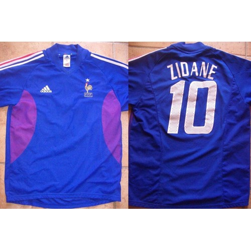 Maillot equipe de france coupe du monde 2002 zidane fff - Coupe du monde de foot 2002 ...